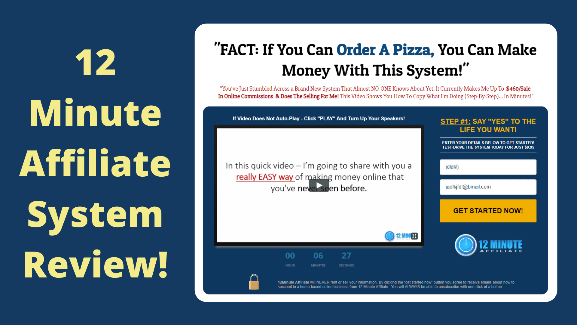 12 Minute Affiliate System Review: This Is What I Got!