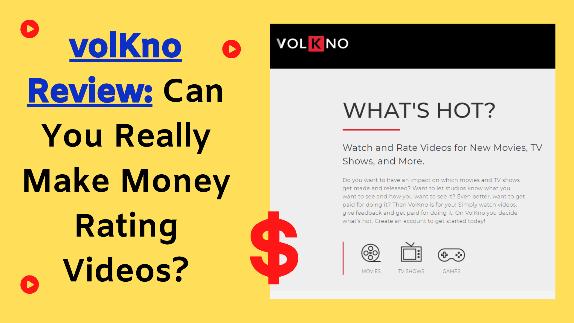 volKno Review: Earning Money By Rating Videos (The Truth)